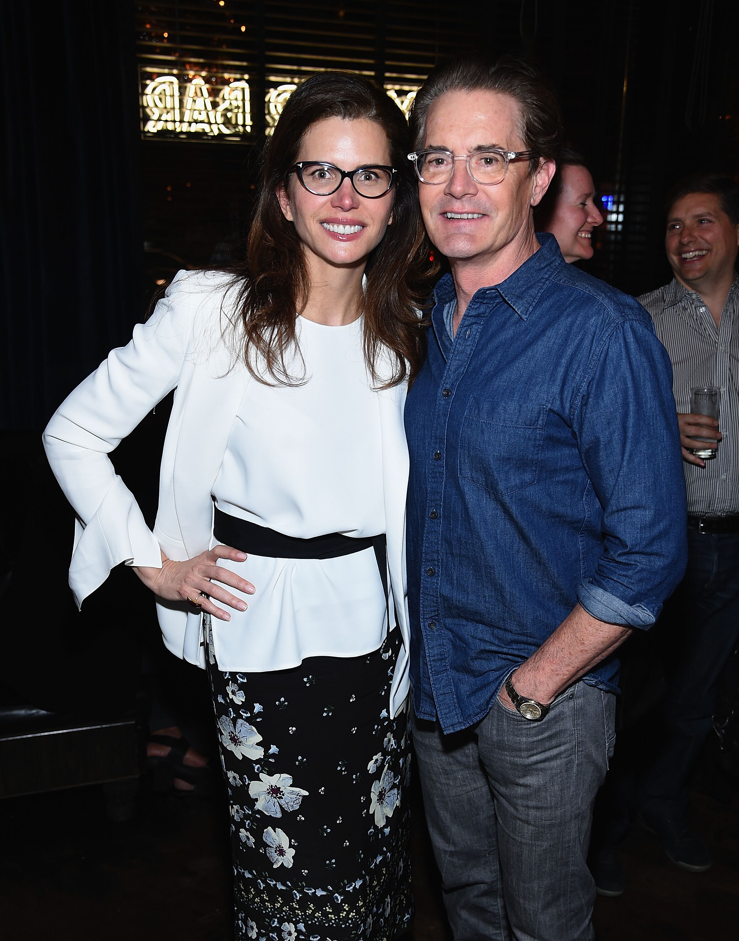 "Desiree Gruber and Kyle MacLachlan attend the after party for A Screening Of ""Impulse."" 