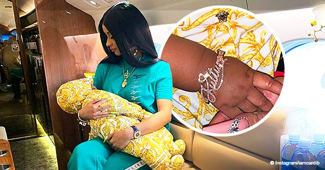 Cardi B Gifts Daughter with $5,900 'Kulture' Rose Gold Diamond Bracelet in New Photo