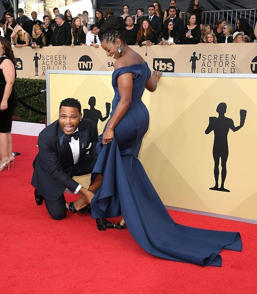 Anthony Anderson, Alvina Stewart at the 24th Annual Screen Actors-Guild Awards | Photo: Getty Images