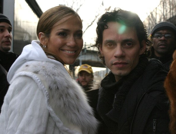 Jennifer Lopez and Marc Anthony on January 15, 2005 at Streets of New York City in New York City, New York, United States. | Photo: Getty Images