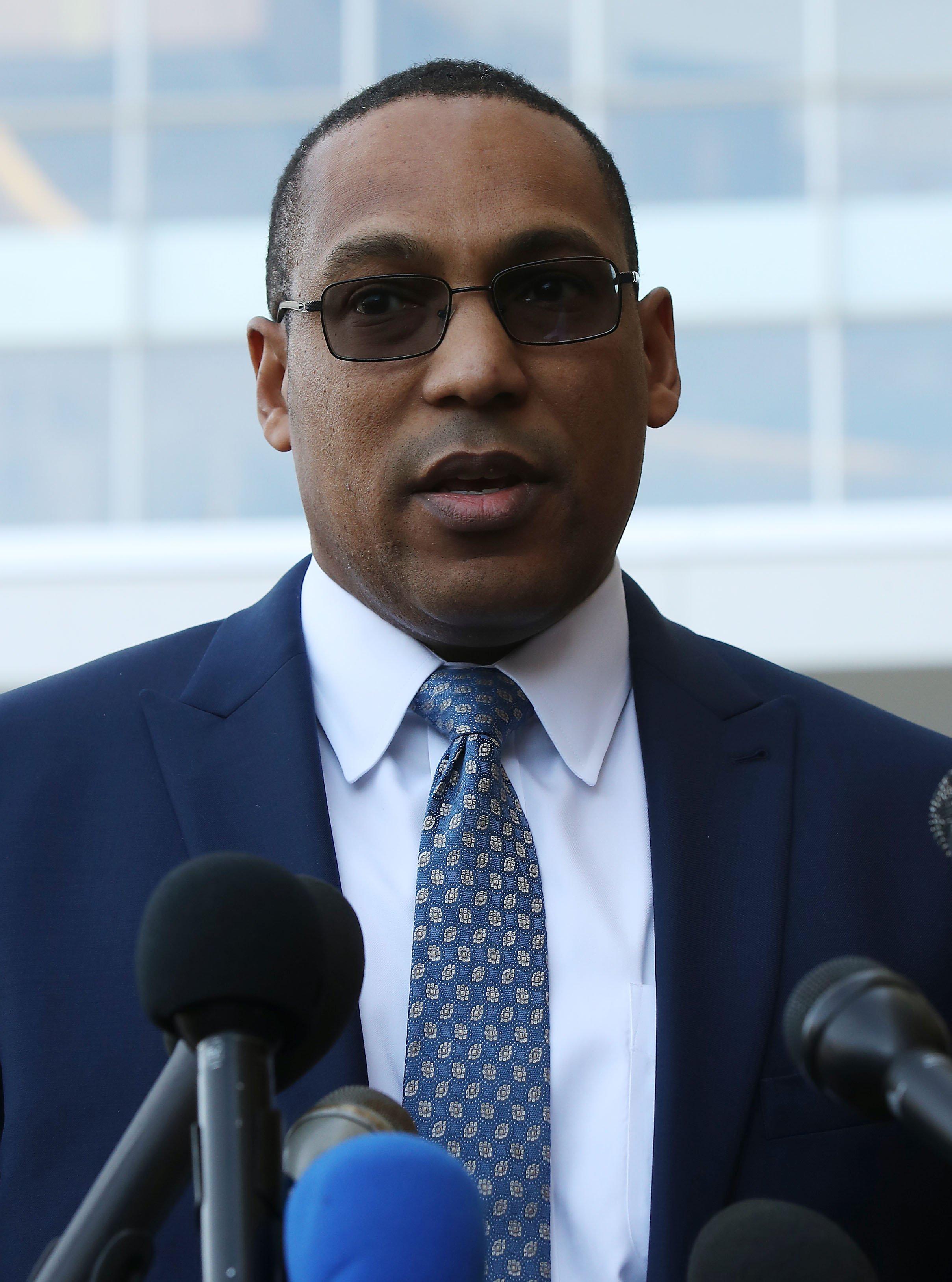 BI Special Agent Gordon Johnson addressing the media regarding Christopher Hasson   Photo: Getty Images