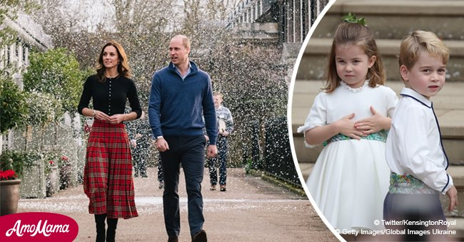 El príncipe Guillermo explicó por qué no llevó a sus hijos a la fiesta de Navidad