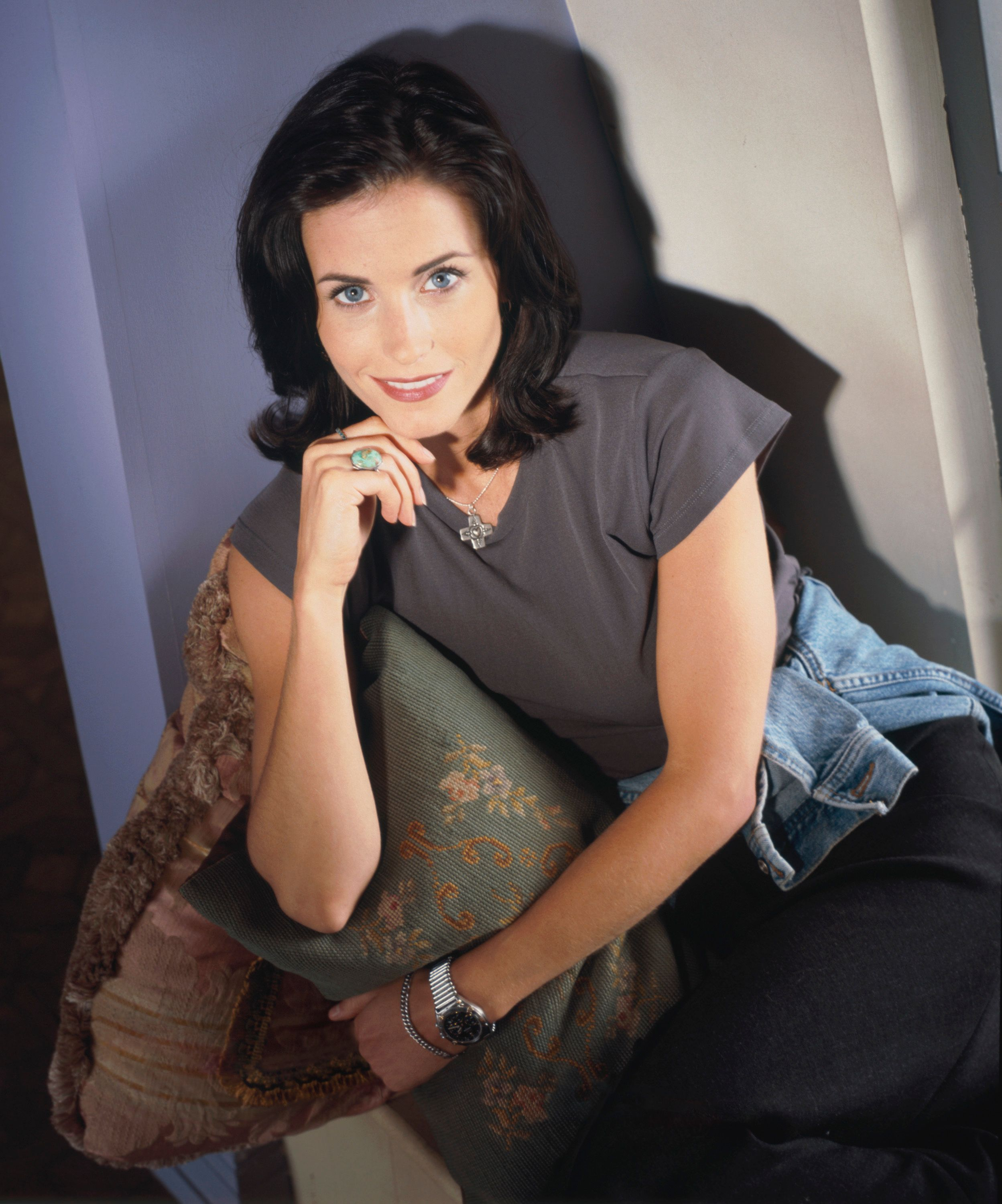 """1994 Publicity shot from the first season of """"Friends"""" -- Courteney Cox as Monica Geller 