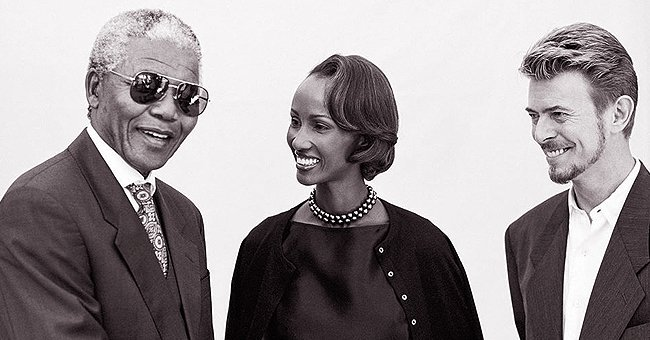 Iman Celebrates Nelson Mandela's Birthday with a Throwback Pic of Them with Her Late Husband David Bowie