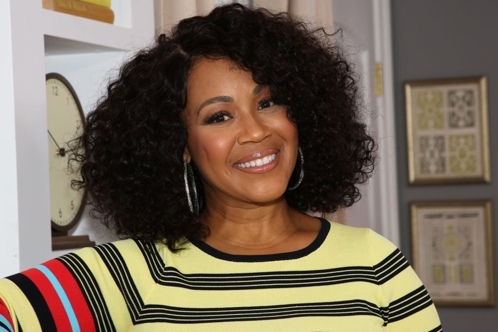 "Singer Erica Campbell visits Hallmark Channel's ""Home & Family"" at Universal Studios Hollywood. 