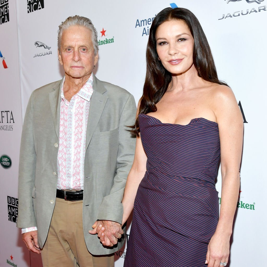 Michael Douglas and Catherine Zeta-Jones attend the BAFTA Los Angeles + BBC America TV Tea Party 2019 at The Beverly Hilton Hotel. |  Photo: Getty Images