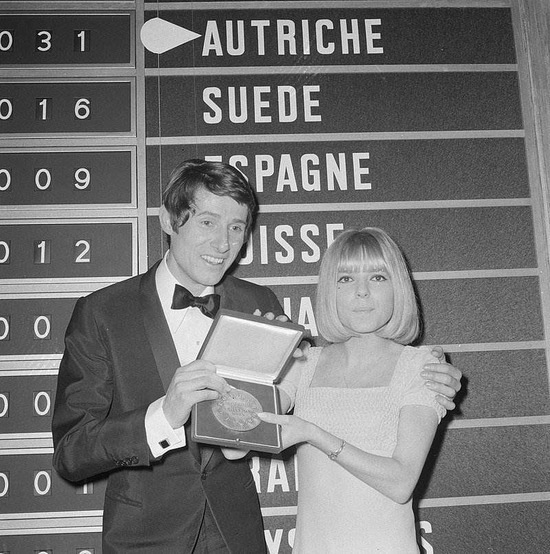 France Gall pour l'Eurovision 1966. l Source : Wikimedia Commons