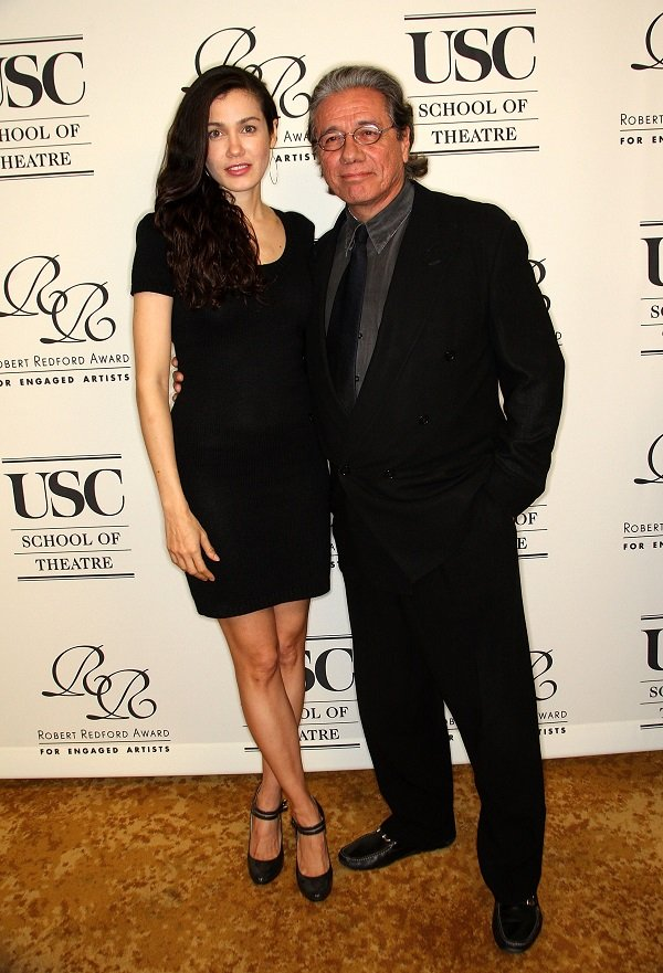 Lymari Nadal and Edward James Olmos on February 10, 2010 in Beverly Hills, California | Source: Getty Images