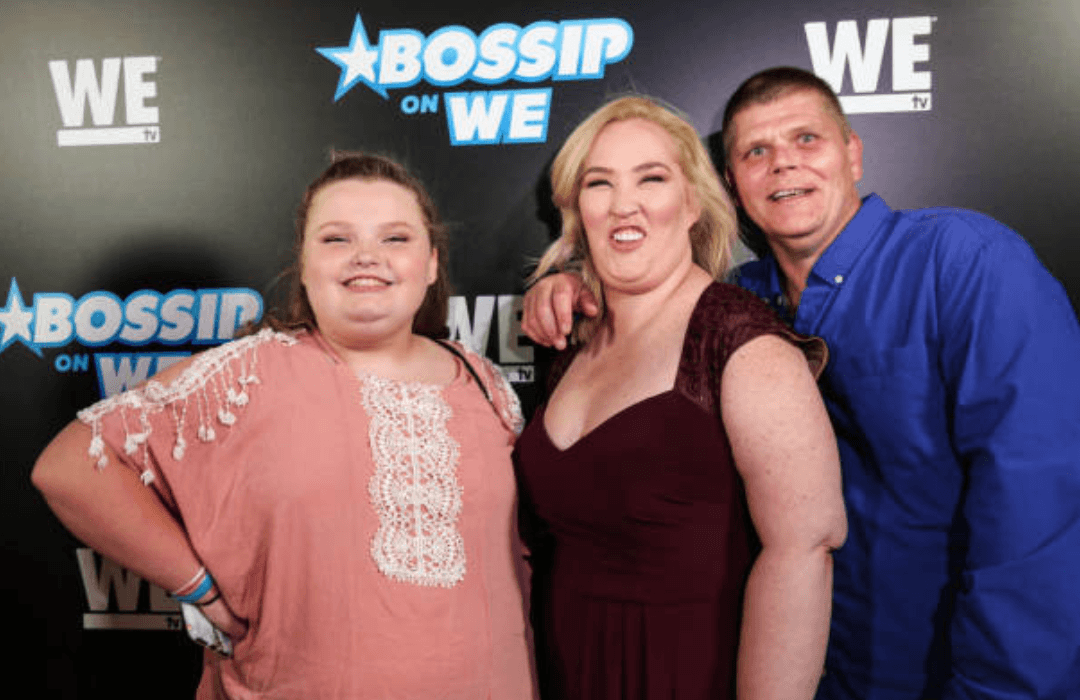 """Alana Thompson, June Shannon and Geno Doak pose on the red carpet atthe """"Best Dressed List"""" for Bossip,on July 31, 2018 in Los Angeles, California 