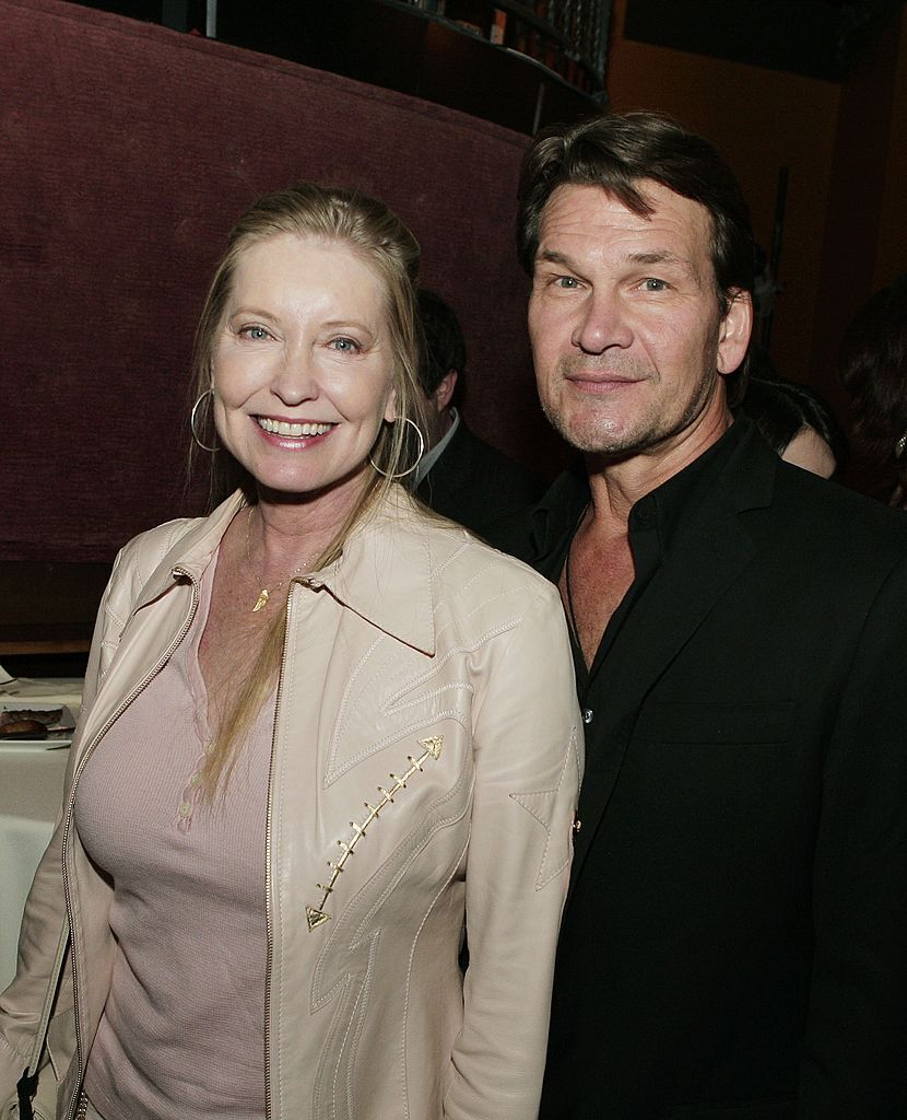 "Patrick Swayze and Lisa Niemi at the afterparty of ""Dan in Real Life."" 