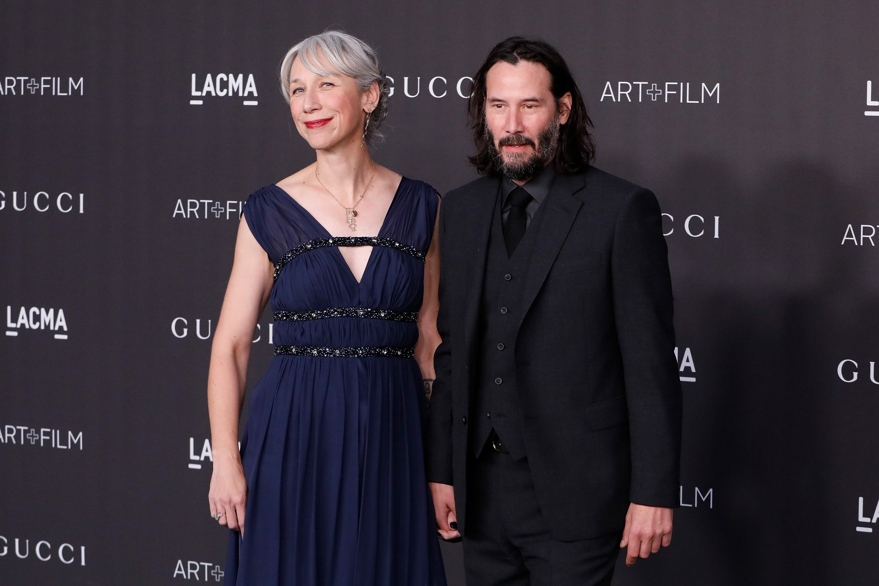 Alexandra Grant and Keanu Reeves attend the 2019 LACMA Art & Film Gala on November 02, 2019 in Los Angeles, California. | Source: Getty Images.
