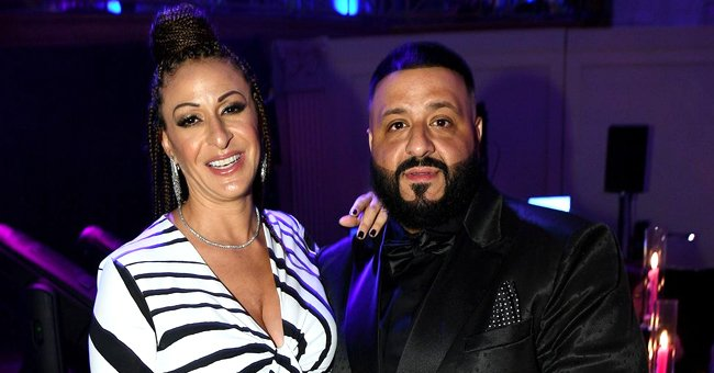 Check Out DJ Khaled & Nicole Tuck's Cute Son Aalam's Heart-Melting Smile as He Plays with a Toy
