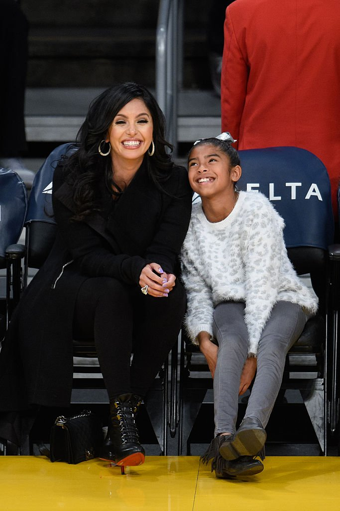Vanessa and Gianna Bryant pictured at a basketball game at Staples Center on November 29, 2015 in Los Angeles, California.   Source: Getty Images