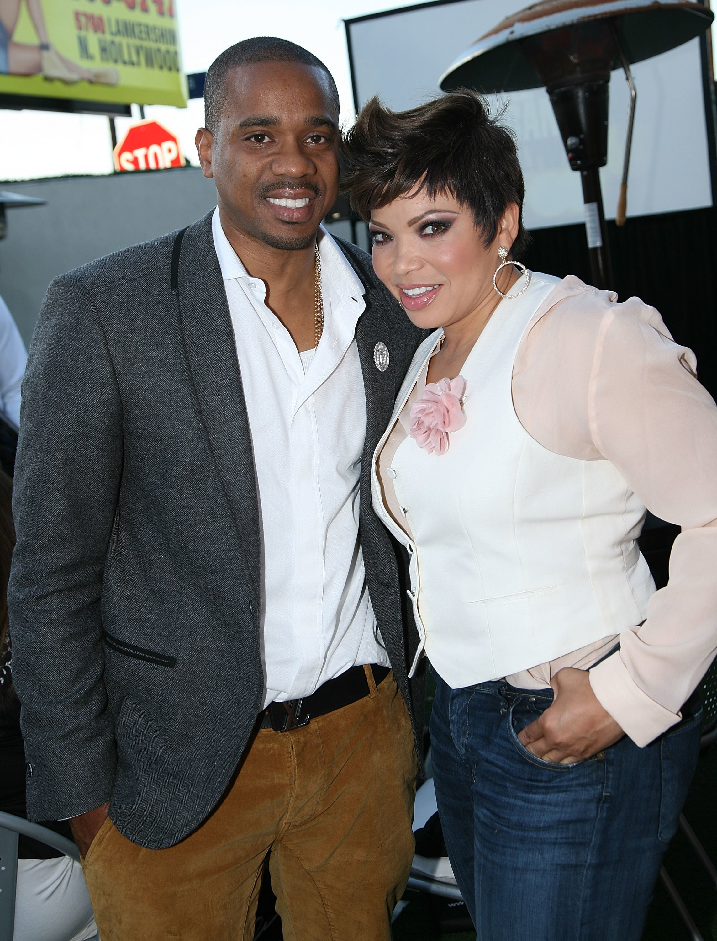 """Duane Martin and Tisha Campbell-Martin attend BET's """"Real Husbands of Hollywood"""" Wrap Dinner at Xen Lounge on May 19, 2013 
