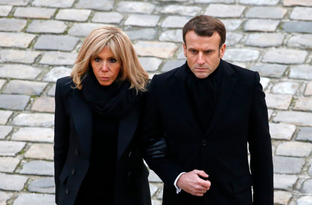 Emmanuel Macron et sa femme Brigitte Macron le 25 novembre 2019. | Photo : Getty Images