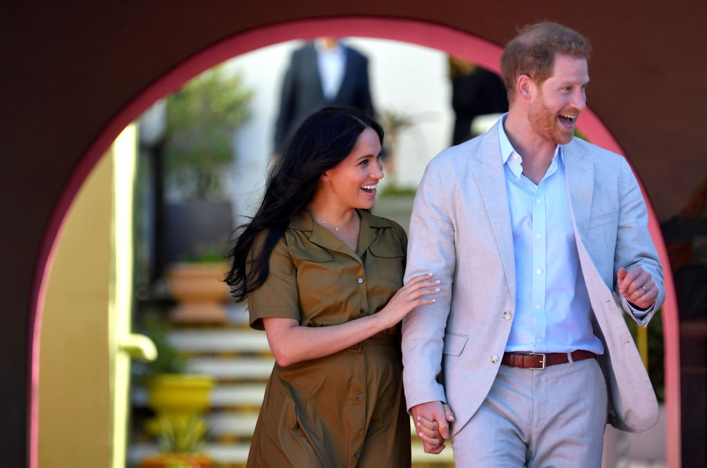 Prince Harry and Meghan take part in Heritage Day public holiday celebrations in the Bo Kaap district of Cape Town. | Source: Getty Images
