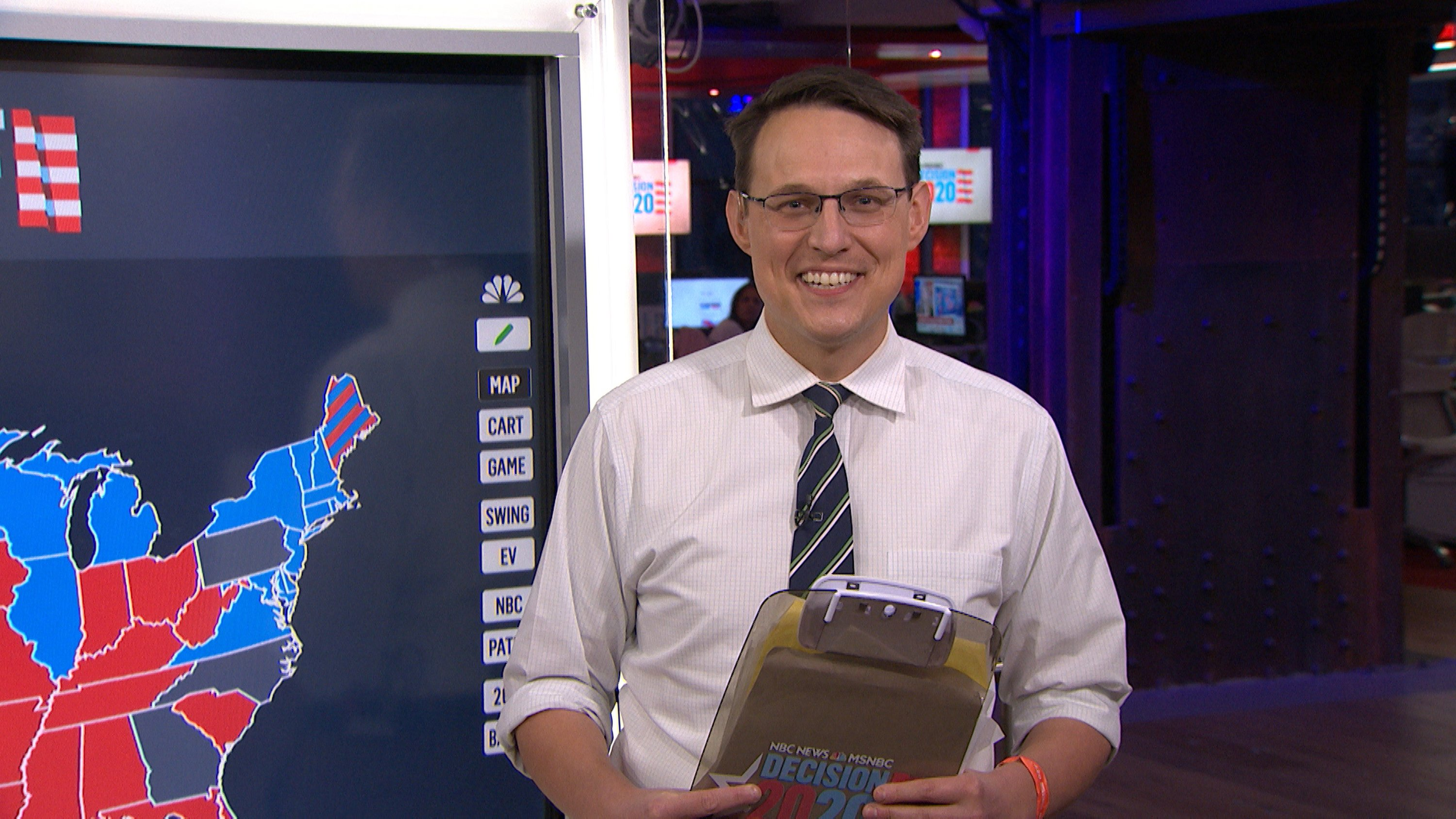 NBC News Journalist Steve Kornacki during an interview on November 4, 2020. | Source: Getty Images