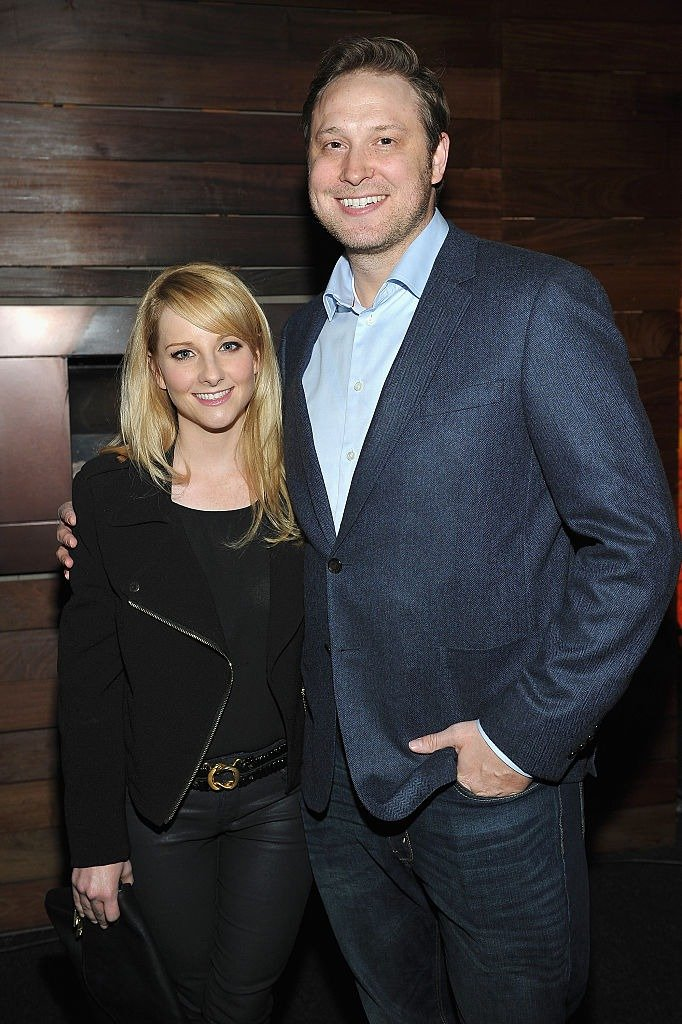 Melissa Rauch, and writer Winston Rauch attend Photographs by Kelly Klein Hosted by Barry Diller and Jason Weinberg at BOA Steakhouse on January 8, 2016   Photo: Getty Images