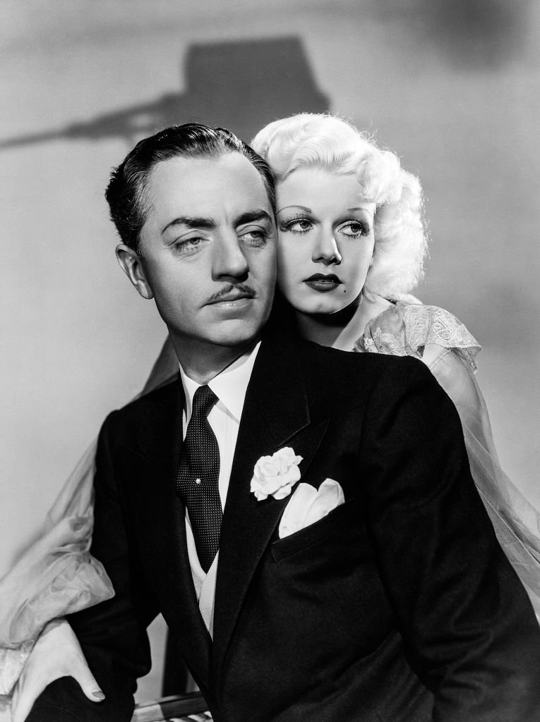 """Jean Harlow and William Powell in a scene from the movie """"Reckless"""" on January 01, 1935   Photo: Getty Images"""