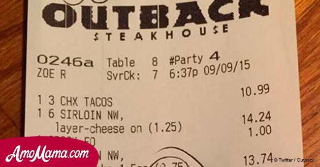 Restaurant staff thinks nobody will see what they wrote on officers' receipt