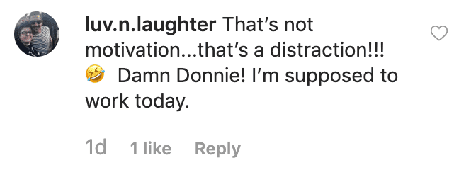 Fan's comment on Donnie Wahlberg's post. | Source: Instagram/donniewahlberg