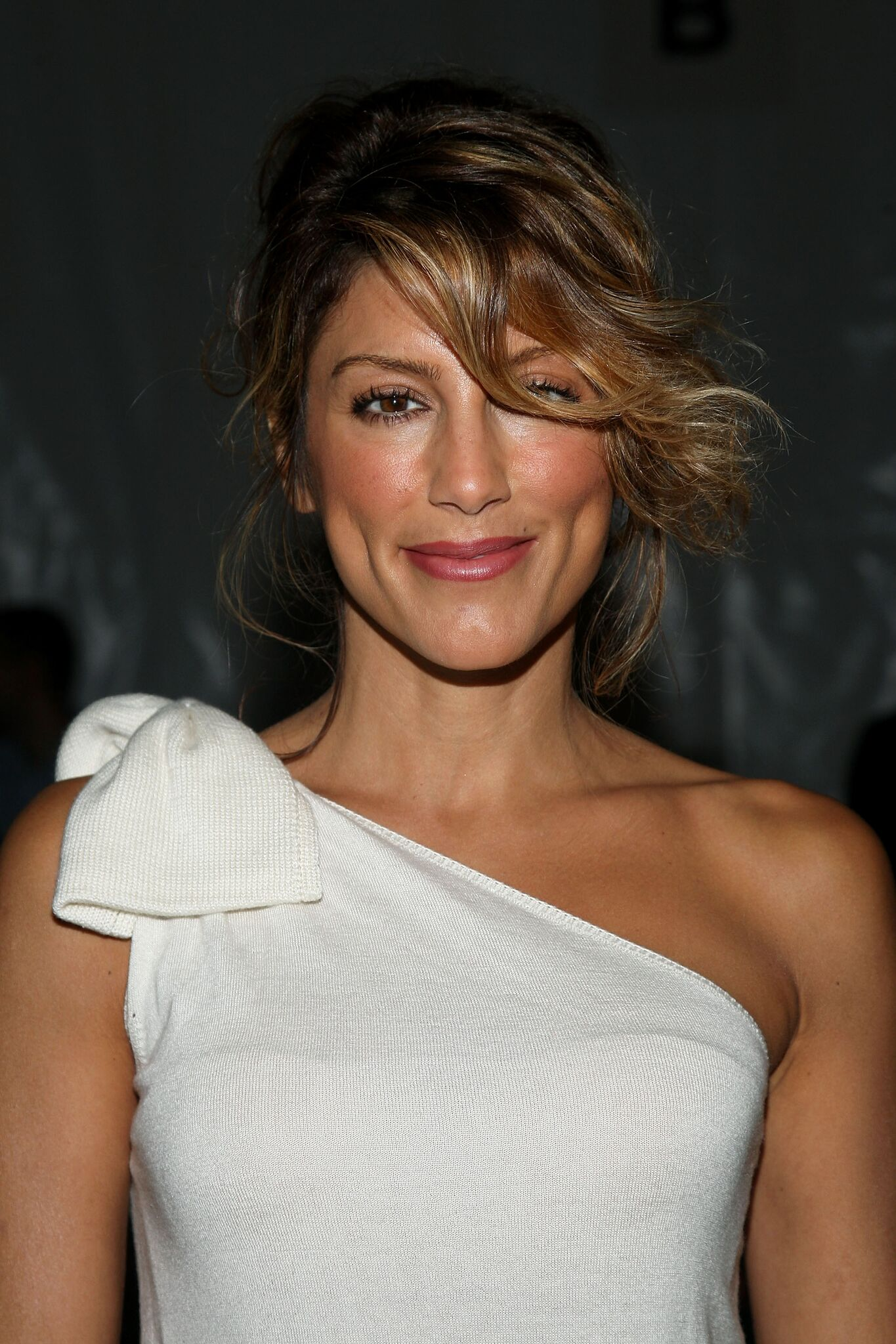 Actress Jennifer Esposito attends the Lela Rose Spring 2010 Fashion Show at Bryant Park | Getty Images