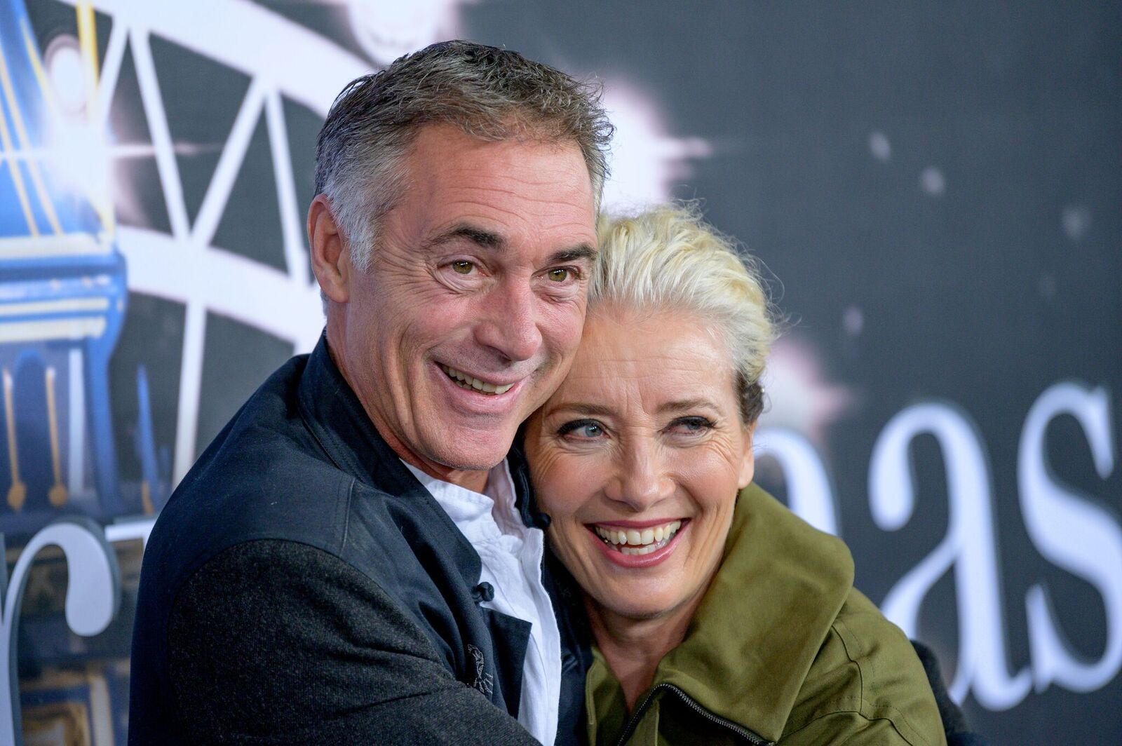 "Greg Wise and Emma Thompson at the ""Last Christmas"" New York Premiere on October 29, 2019, in New York City 