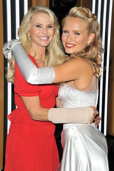 "Christie Brinkley and Sailor Lee Brinkley-Cook at the ""Dancing With The Stars"" Season 28 show in Los Angeles, California.