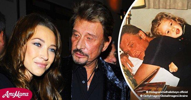 Nathalie Baye partage une photo inédite de Johnny et Laura, un moment de bonheur