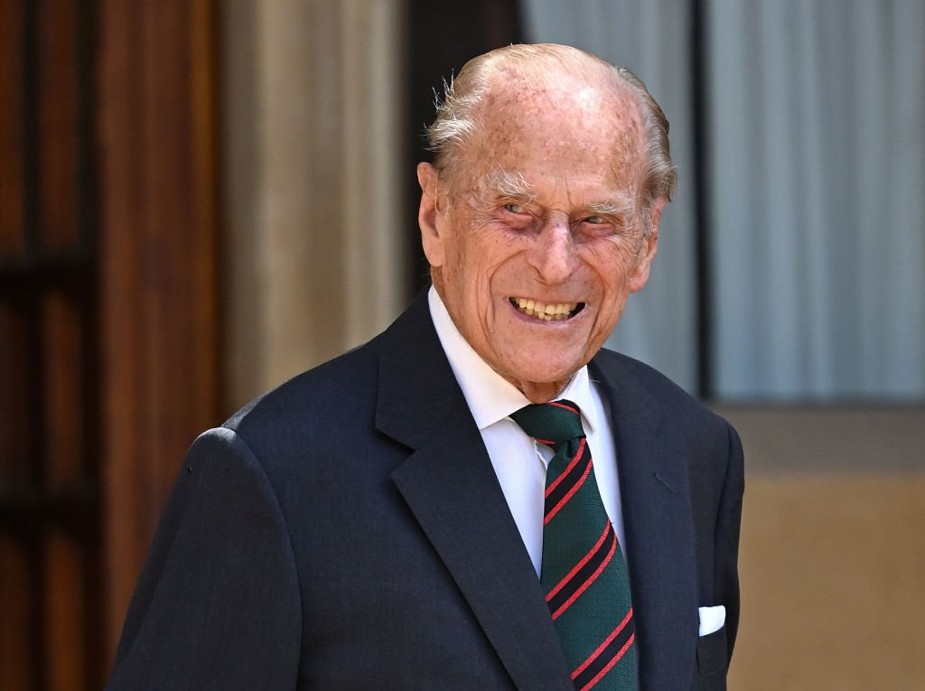 Prince Philip, Duke of Edinburgh (wearing the regimental tie of The Rifles) attends a ceremony to mark the transfer of the Colonel-in-Chief of The Rifles from him to Camilla, Duchess of Cornwall at Windsor Castle on July 22, 2020 in Windsor, England   Photo: Getty Images