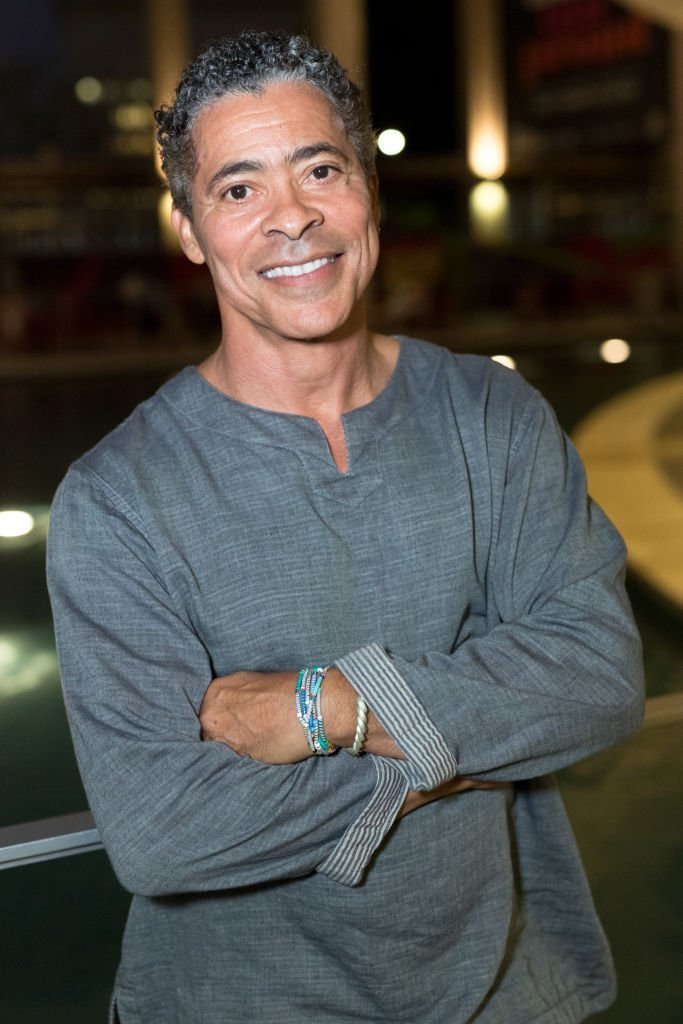 "Jasmine Guy's ex-boyfriend Dominic Hoffman at the Opening Night Of ""Sweat"" at Mark Taper Forum on Sept. 5, 2018 in California 