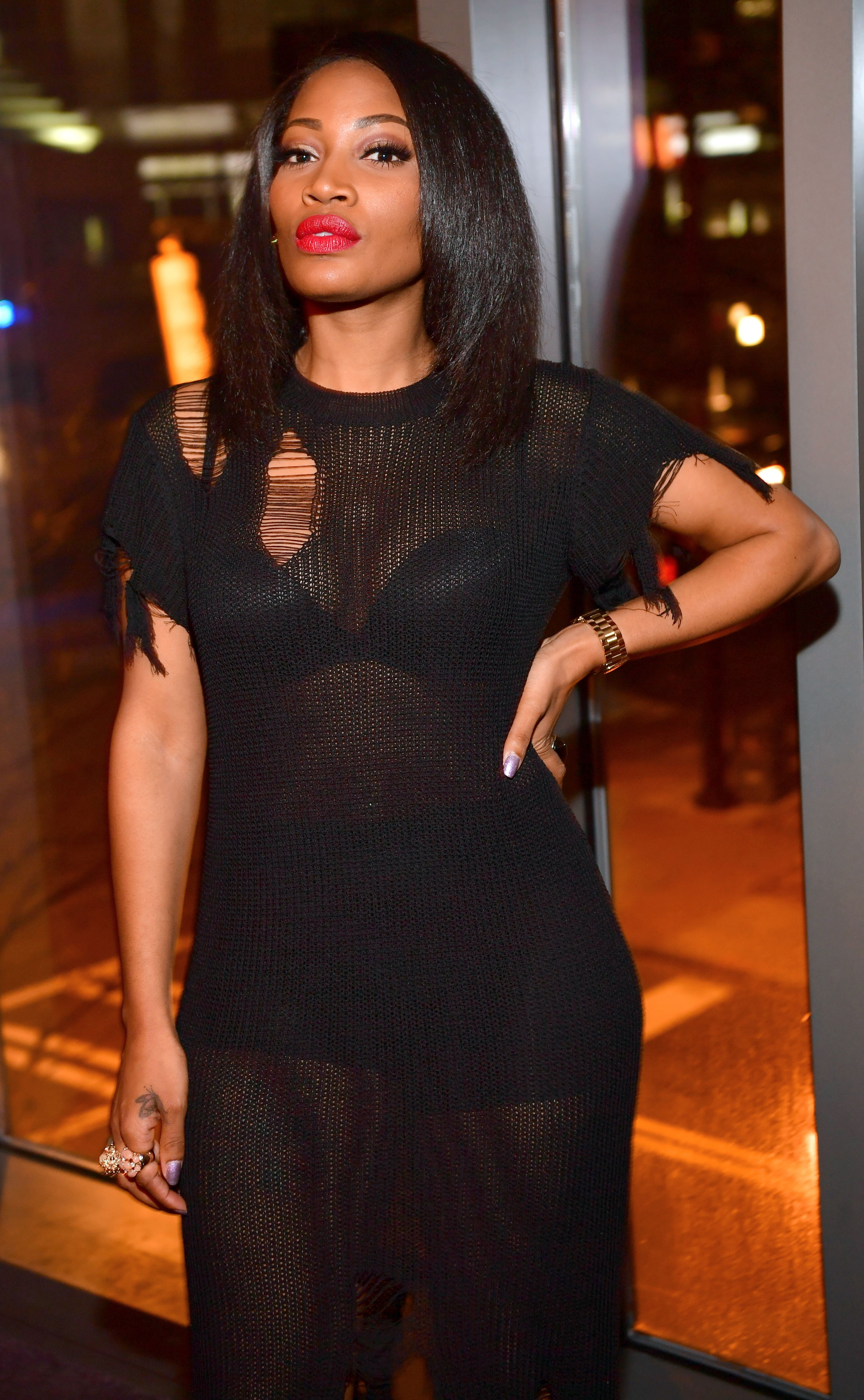 Erica Dixon at a party at the Gold Room on January 19, 2017 | Photo: Getty Images