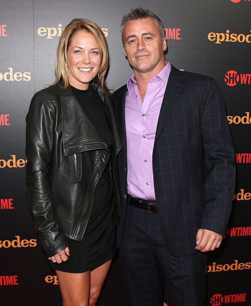 """Melissa McKnight (L) and actor Matt LeBlanc attend the Premiere Reception For Showtime's """"Episodes"""" Season Two at The London Hotel  