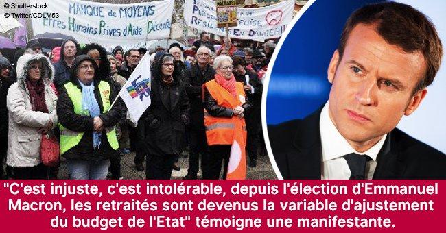 """En Mayenne, 120 retraités s'adressent à Macron: """"Monsieur le président, rendez-nous notre pouvoir d'achat"""""""
