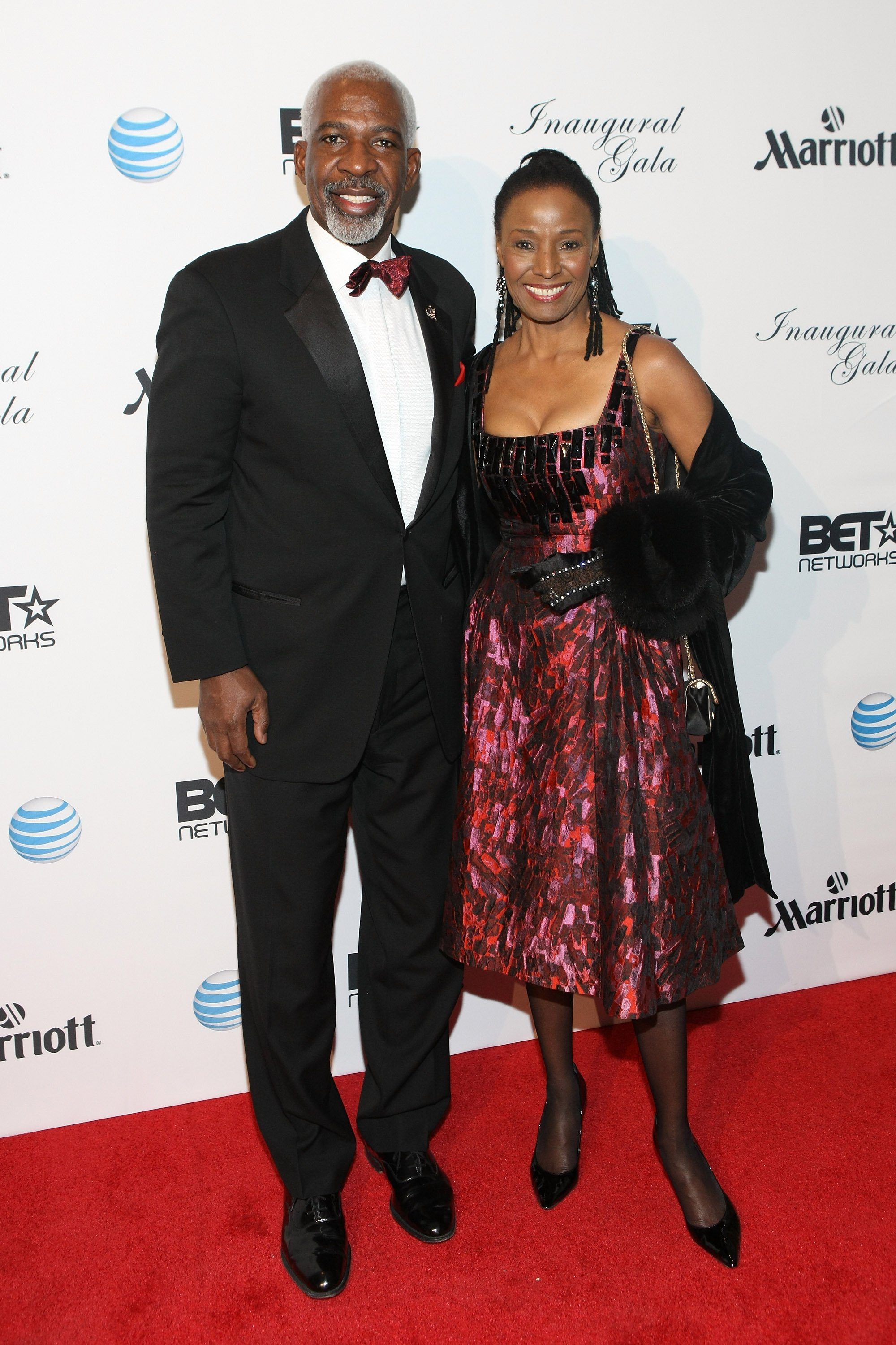 Dan Gasby and B. Smith at the Inaugural Ball hosted by BET Networks  in 2013 | Getty Images