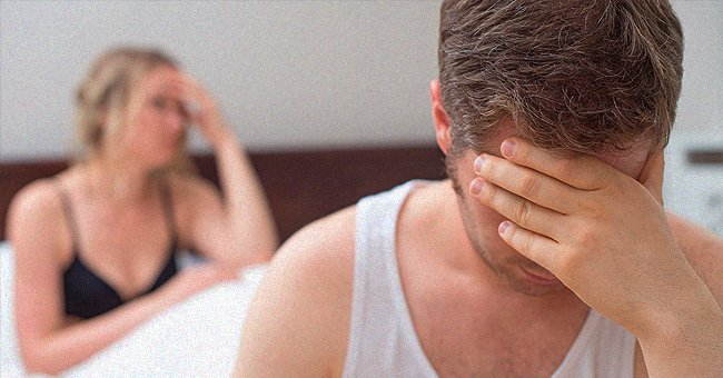 Man and woman sit in their bed in dismay about their situation   Photo: Shutterstock