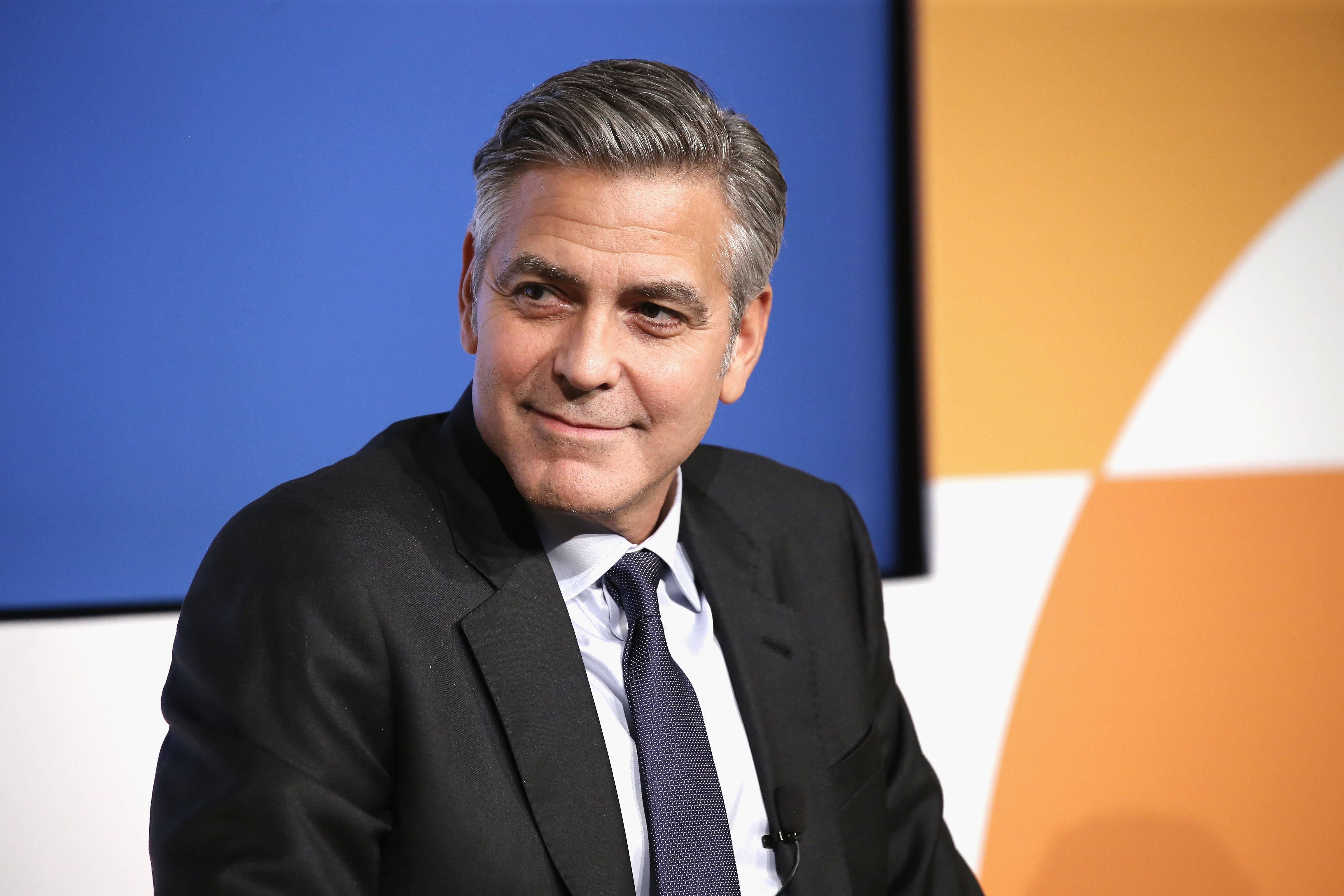 George Clooney during The 100 LIVES initiative on March 10, 2015 in New York City. | Source: Getty Images