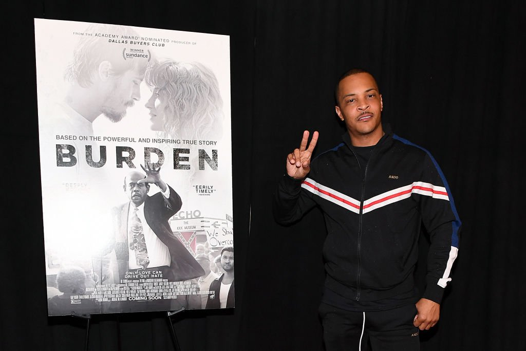 "T.I. at the ""Burden"" Atlanta Red Carpet Screening at The Plaza Theatre on March 02, 2020. 