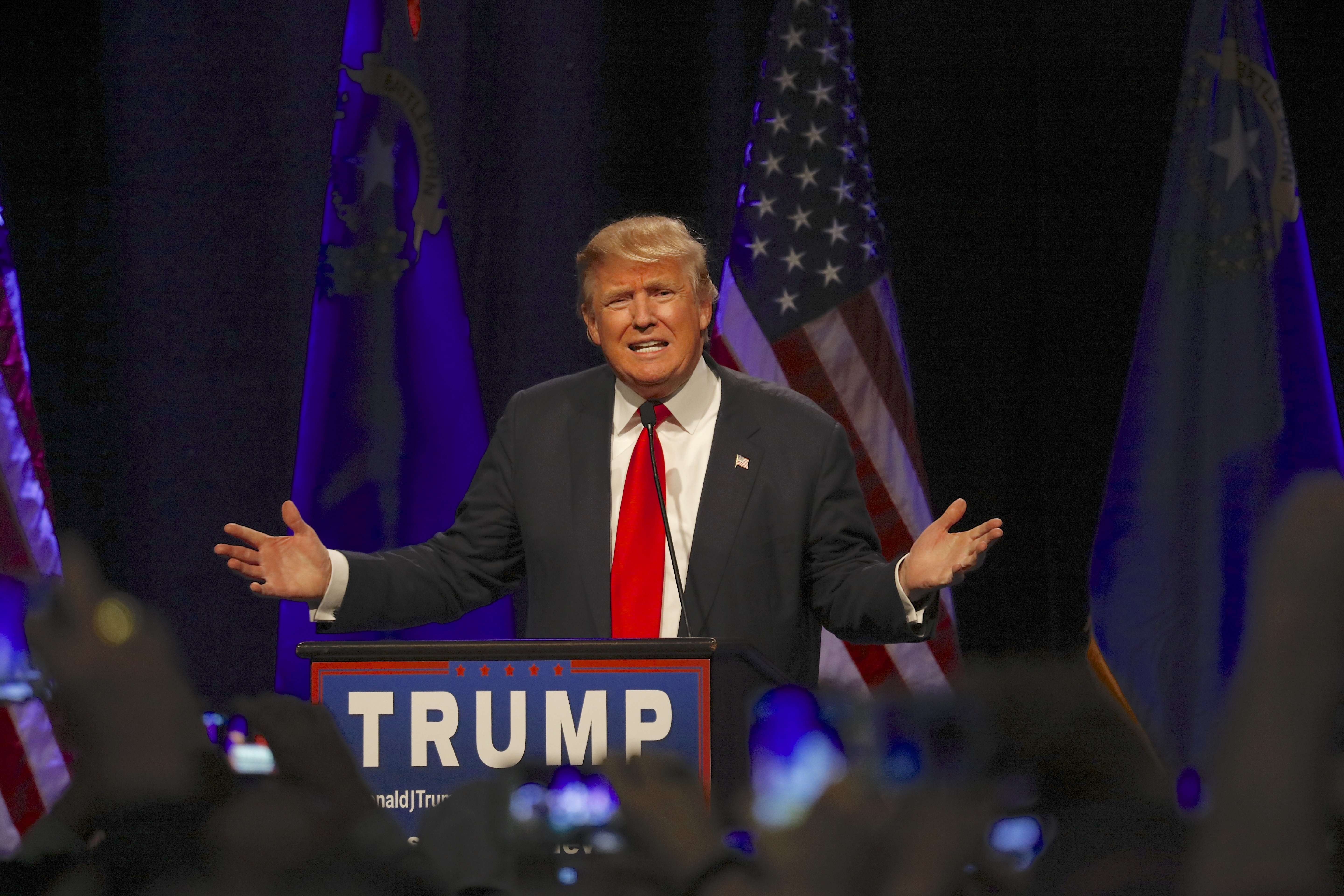 Donald Trump speaks at campaign event at Westgate Las Vegas Resort & Casino | Source: Shutterstock