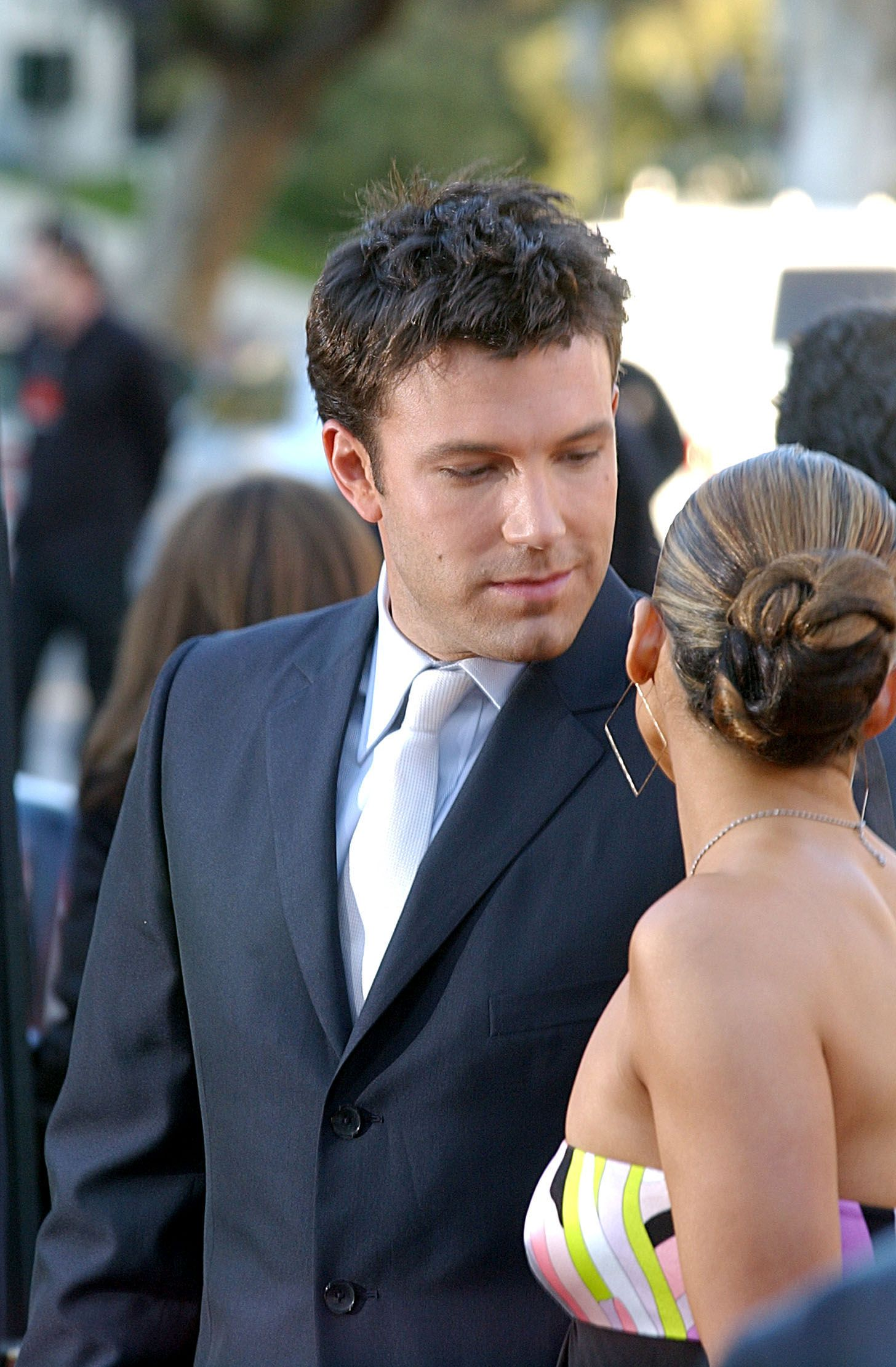 """Ben Affleck and Jennifer Lopez during the """"Daredevil"""" premiere at Mann Village in Los Angeles, California 