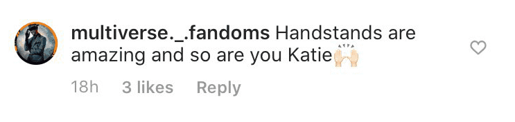 Fan's comment on Kate Cassidy's post | Photo: Instagram/ Katiecassidy