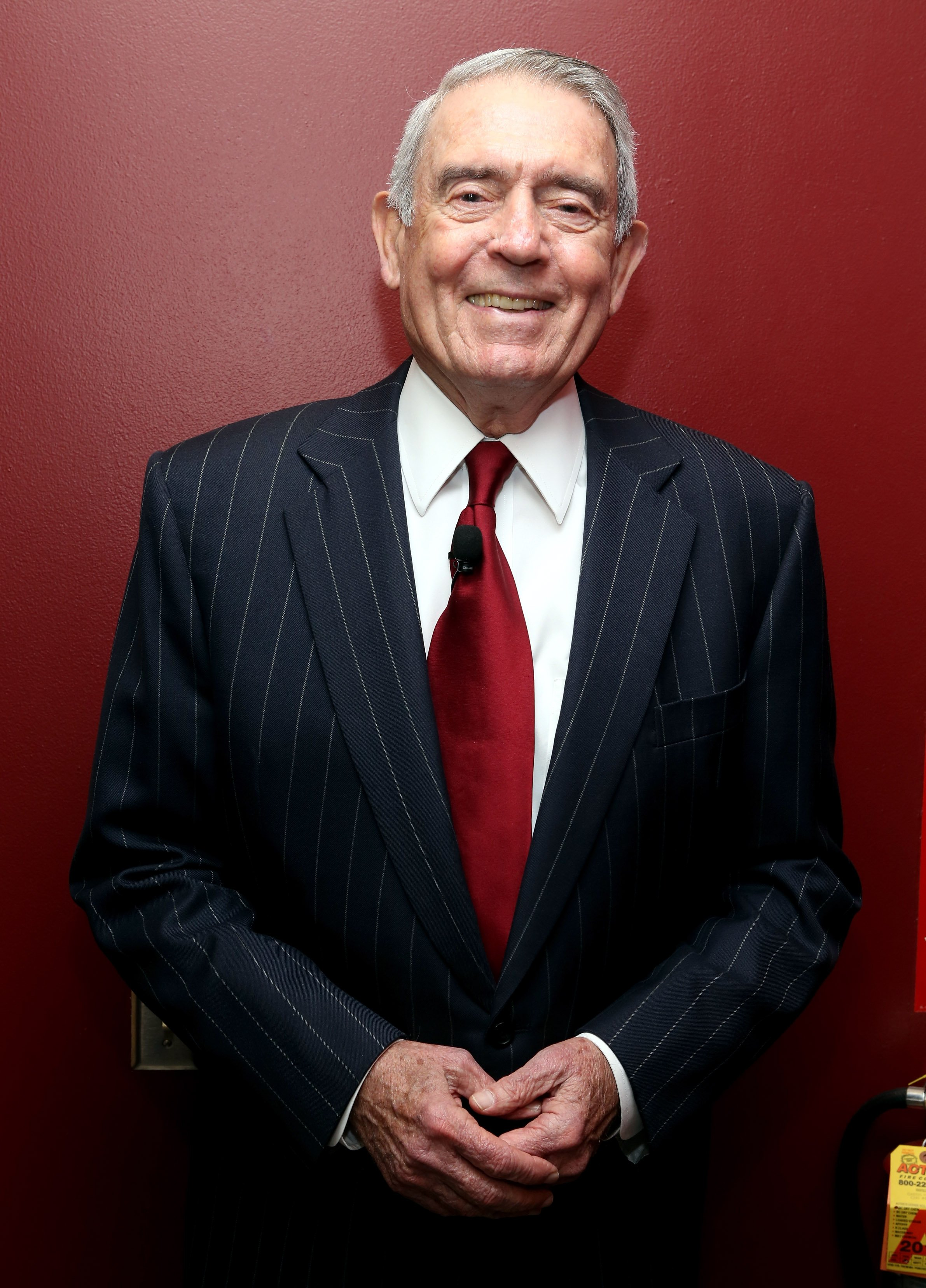 Dan Rather poses for The Newsmen: Changing Dynamics of Media, Tech, and Journalism panel on September 30, 2014 in New York City. Source: Getty Images