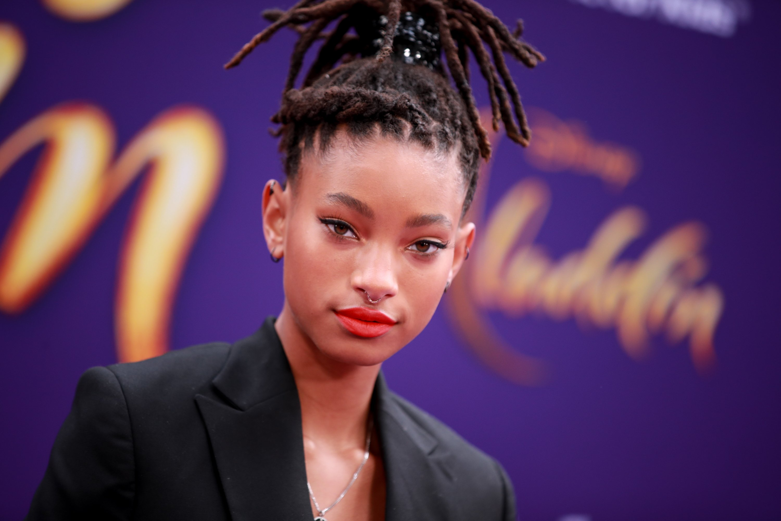 """Willow Smith attends the premiere of Disney's """"Aladdin"""" on May 21, 2019 in Los Angeles, California. 