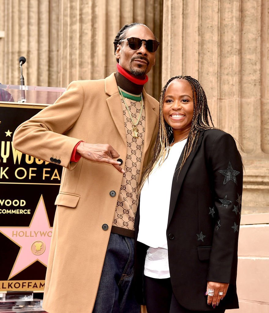 Snoop Dogg, with his wife Shante Broadus, is honored with a star on The Hollywood Walk Of Fame on Hollywood Boulevard | Photo: Getty Images