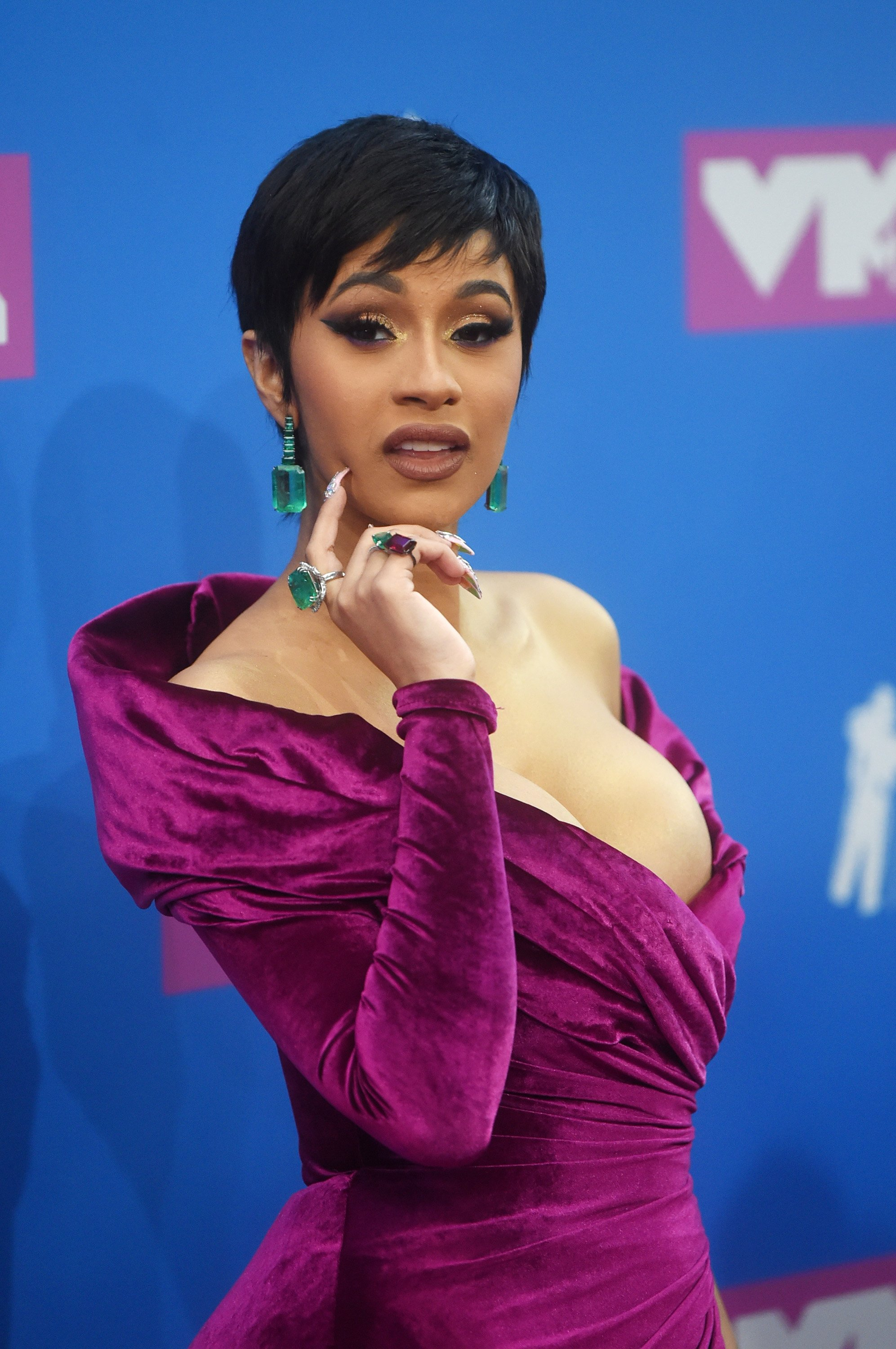 Cardi B at the 2018 MTV Video Music Awards in New York City on August 20, 2018. | Photo: Getty Images