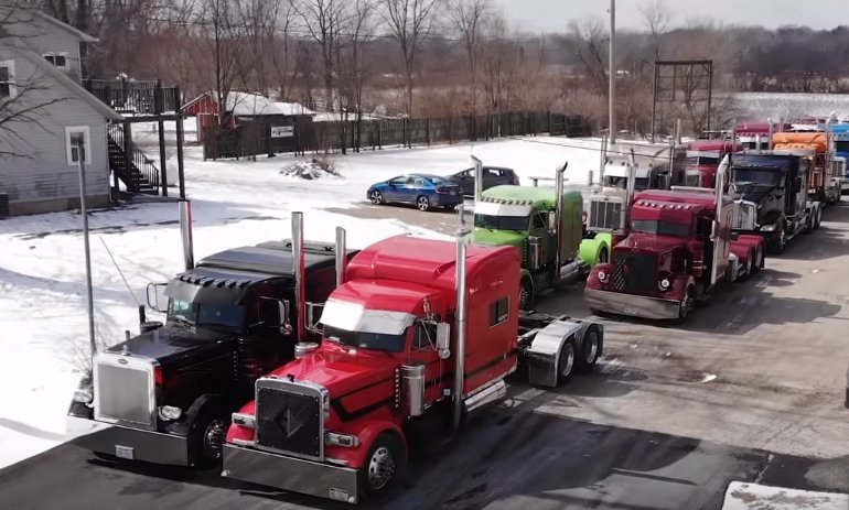 "Truck tricked out for Mark Shuman's ""Last Ride"" 