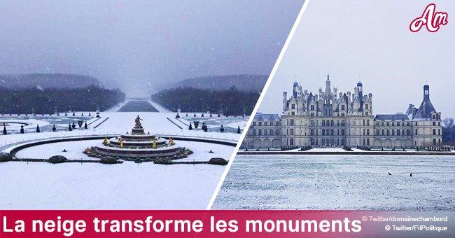 La Tour Eiffel, le château de Versailles, le Chambord - les photos des monuments transformés par la neige