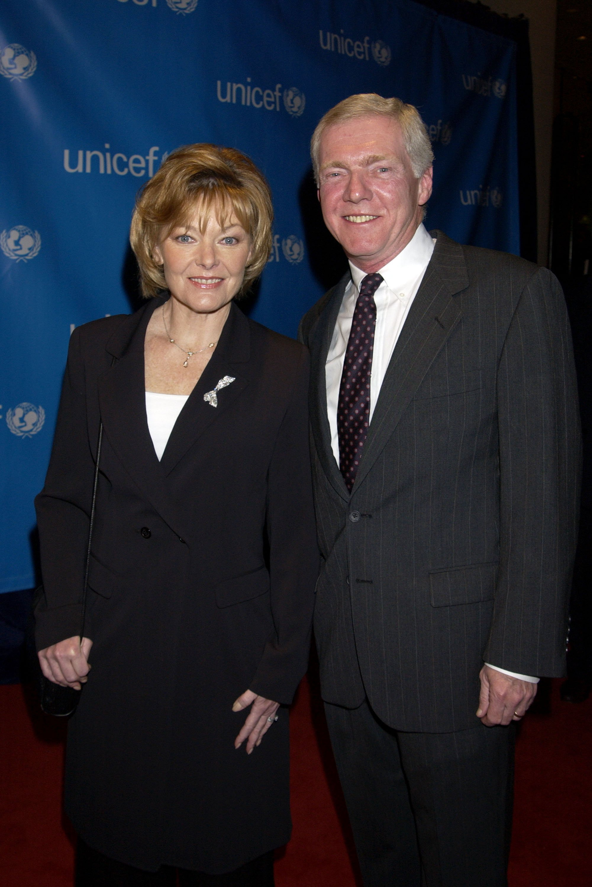 Jane Curtin and husband Patrick Lynch during UNICEF Goodwill Gala Celebrating 50 Years of Celebrity Goodwill Ambassadors - Red Carpet at The Beverly Hilton in Beverly Hills, California, | Photo: GettyImages