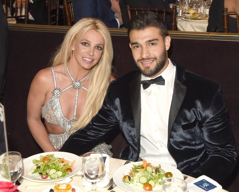 Britney Spears and Sam Asghari on April 12, 2018 in Beverly Hills, California | Photo: Getty Images
