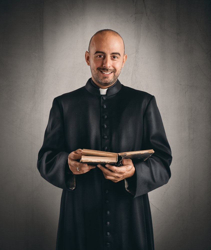 The priest was pleased to hear that the young man was moved by the sermon.   Photo: Shutterstock